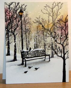 Tempête au parc by Micheline Jourdain - Cards and Paper Crafts at Splitcoaststampers