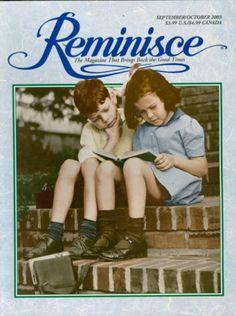 2003 Reminisce Magazine 1940's Children Working on Homework on Cover | eBay