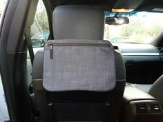 Pocket Tote in car.. great for the kids and can be personalized with their names