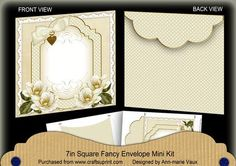 Cream Magnolia Fancy 7x7inch Easy Envelope Mini Kit on Craftsuprint - Add To Basket!