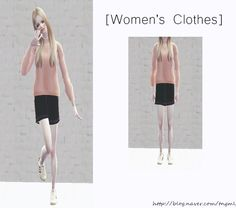 sims 2 Knit+skirt 심즈 2 니트 스커트 - MESH is included Download Link (adfly)