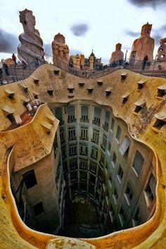 La Pedrera - Casa Milà (Gaudi), Barcelona, Catalonia