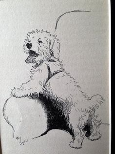 SEALYHAM TERRIER Dog Vintage mounted 1933 Cecil by Hollysprints