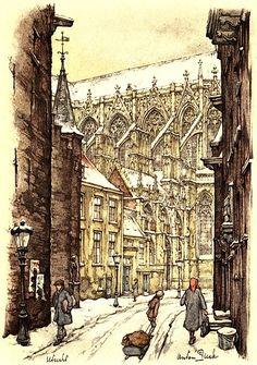 Kerst in Utrecht   met Anton Pieck   Achter de Dom