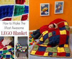 Crochet Lego Blanket Pattern Free Tutorial | The WHOot