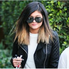 Kylie jenner hair style ombre style