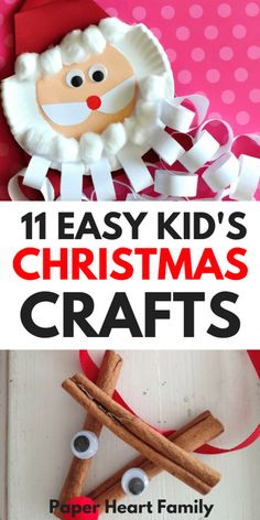 Easy Christmas Crafts For Kids (That Are Low Prep, Too!) These are 11 easy Christmas crafts for kids to make at school, church, preschool or at home for toddlers. Awesome crafts that are low prep using supplies that you already have around the house. Holiday Crafts For Kids, Xmas Crafts, Diy Crafts For Kids, Fun Crafts, Paper Crafts, Kids Diy, Craft Ideas, Simple Crafts, Christmas Activities For Children