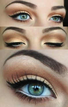 Possible eye makeup? Oh gosh. I have no idea what I'm doing for makeup.