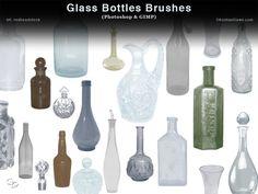 Glass Bottles Photoshop and GIMP Brushes by redheadstock.deviantart.com on @DeviantArt