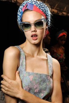 Lindsey Wixson backstage at Marc by Marc Jacobs Spring 2013