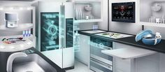 Technology in 2015 - the new gadgets coming your way,Here is a view of a smart Home! Home Gadgets, New Gadgets, Kitchen Gadgets, Best Smart Home, Smart Home Technology, Smart Home Automation, Energy Efficient Homes, Ikea Kitchen, Kitchen Ideas