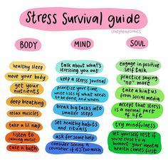 Repost a survival guide to stress for your mind body and soul. stress is my number one trigger for. For see more of fitness life images visit us on our website ! Chronischer Stress, Chronic Stress, Work Stress, Reduce Stress, Mental And Emotional Health, Mental Health Awareness, May Mental Health Month, Mental Health Art, Mental Health Problems