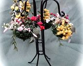 Dolls House Miniatures - Pretty Hanging Basket Stand