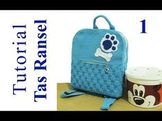 Crochet || Tutorial Merajut Tas Ransel + Inner || Backpack - Basket Weave Stitch (Part 1) - YouTube Crochet Backpack, Backpack Pattern, Loom Knitting Patterns, Crochet Patterns, Knitting Tutorials, Free Knitting, Stitch Patterns, Mochila Crochet, Macrame Bag