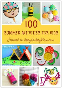 The Ultimate List of 100 Summer Activities for Kids - Summer Crafts for Kids Summer Camps For Kids, Summer Activities For Kids, Summer Kids, Toddler Activities, Indoor Activities, Family Activities, Crafts For Kids To Make, Projects For Kids, Kids Crafts
