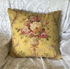 Vintage Flowers Camel Cotton Linen Cushion Cover Throw Pillow Home Decor B624