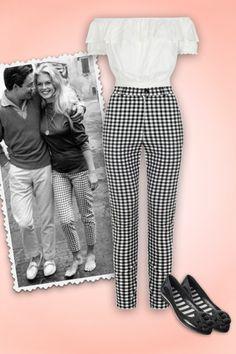 Pantalon cigarette taille haute années 50 Maddie vichy noir - Vêtements/Pantalons et shorts - missretrochic.com