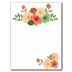Simple Modern Floral Post Card