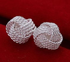 #topstylehub Silver Plated For Women Cool Funky Women's Girl's Solid Silver Jewelry Mesh Ball Stud Earrings.#topstylehub #topstylehub.com #topstyle hub
