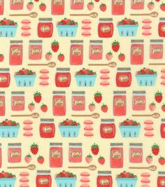 Novelty Cotton Fabric-Berries