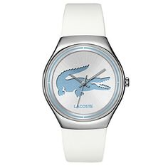 794bb9226 Lacoste Womens 2000839VALENCIA WhiteBlue One Size ** You can find out more  details at the