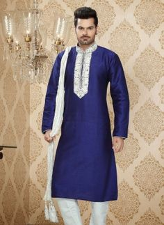 Royal Blue designer kurta pyjama for all occasions