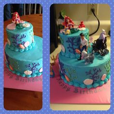 Little mermaid theme cake. Under the sea.
