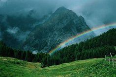 Rainbow in Austria mountains  Favorite Places & Spaces.