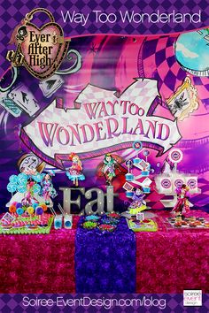 Ever After High Party - Way Too Wonderland + GIVEAWAY!