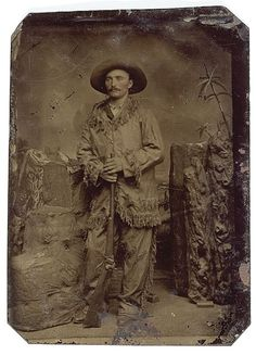 Tintype of a Buffalo Hunter with His Sharps Carbine, - Cowan's Auctions.