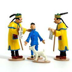 Figurine Tintin et les Dupondt
