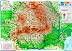 Map of Romania Romania Map, Romania Travel, Romanian Flag, 1 Decembrie, Visual Map, Infp, Timeline Photos, Eastern Europe, Videos Funny