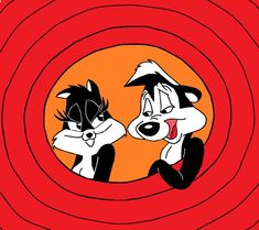 ah my most favorite couple! Pepe le pew and Penelope pussycat! Classic Cartoon Characters, Classic Cartoons, Cartoon Art, Disney Characters, Cute Illustration, Character Illustration, Valentine Cartoon, Pepe Le Pew, Saturday Morning Cartoons