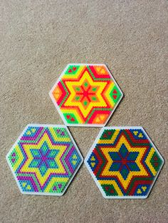 Hama beads hexagon 16
