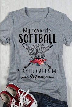 favorite softball player calls me mom.My favorite softball player calls me mom. Softball Mom Shirts, Girls Softball, Baseball Shirts, Sports Shirts, Softball Crafts, Softball Cheers, Softball Bows, Softball Quotes, Softball Stuff
