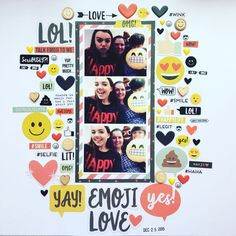 """149 Likes, 25 Comments - Natalie (@nataliescrapbook) on Instagram: """"Quite a different layout to normal! I decided to go for a sticker/ stamping/ die cut/ wood veneer…"""""""