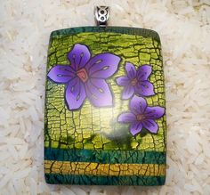 Image result for Valerie Wright polymer clay crackle effect