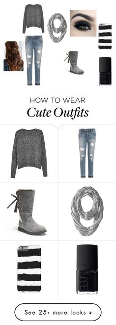 """Cute winter outfit"" by danielle-bff-renee on Polyvore featuring Joe's Jeans, Muk Luks, French Connection, Smartwool, NARS Cosmetics and Urban Outfitters"