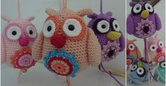 Not in English, but use translate pattern is there Owl Crochet Pattern Free, Diy Crochet And Knitting, Crochet Birds, Cute Crochet, Crochet Animals, Crochet Flowers, Free Pattern, Knitted Owl, Owls