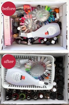 56 Ideas For Nail Polish Storage Diy Box Organizing Ideas Diy Box Organizer, Diy Organization, Diy Storage, Organizing Ideas, Cardboard Storage, Storage Ideas, Nail Polish Storage, Best Nail Polish, Nail Polish Designs