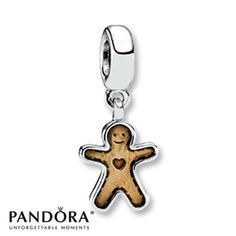 Pandora Dangle Charm Golden Enamel Sterling Silver
