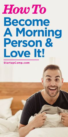 How to Become a Morning Person and Love It!  Tips from the master! A seriously good read.