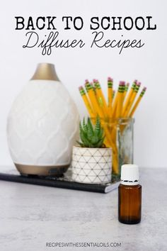Back to School Diffuser Recipes - Recipes with Essential Oils Therapeutic Grade Essential Oils, Best Essential Oils, Young Living Essential Oils, Essential Oil Diffuser, Diffuser Recipes, Back To School, School Days, Diffuser Blends, Peppermint