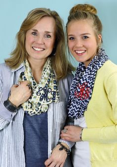 Monogrammed Spring Scarves by Initial Outfitters |$22-$24| Spring 2015 Collection