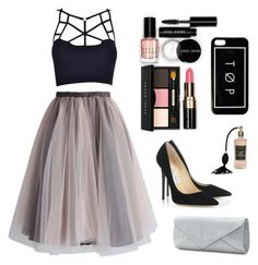 """""""Event outfit"""" by snowflake1222 ❤ liked on Polyvore featuring Chicwish, Bobbi Brown Cosmetics, Jimmy Choo, Mascara, women's clothing, women's fashion, women, female, woman and misses"""