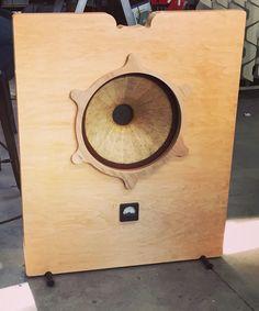 """Atelier Rullit 15"""" field coil in prototype open baffle"""