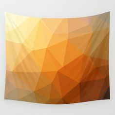 Shades of Orange Triangle Abstract Wall Tapestry