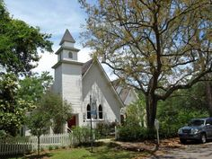 St Paul Episcopal Church | ~ Nestled on the banks of the winding Magnolia River, the small town of Magnolia Springs is a charming little community so-named for its many magnolia trees, and the natural springs that flank the river. Known for its beautiful oak tree lined streets, Magnolia Springs is one of the few remaining towns in the USA that has its mail delivered to riverside mailboxes by boat – a unique aspect of the town that alongside historical buildings.