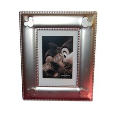 Disney Parks Silver Love is Magical Wedding Castle Photo Frame 5 x 7 Stand