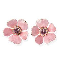 I Love Jewelry, Jewelry Design, Pretty In Pink, Swarovski Crystals, Daisy, Feminine, Bling, Stud Earrings, Jewels